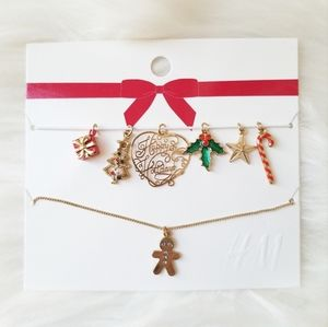 H&M Holiday Christmas Charm Necklace